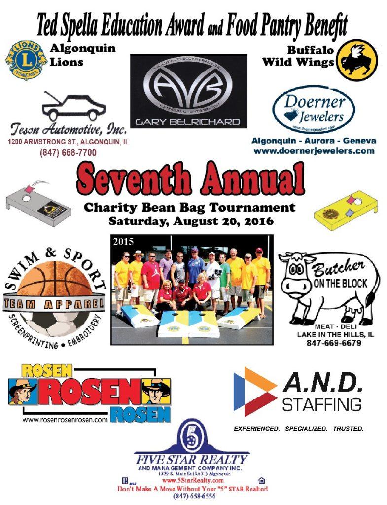 8th Annual Charity Bean Bag Tournament Flyer